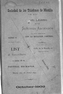 Lista de abonados Manila 1902