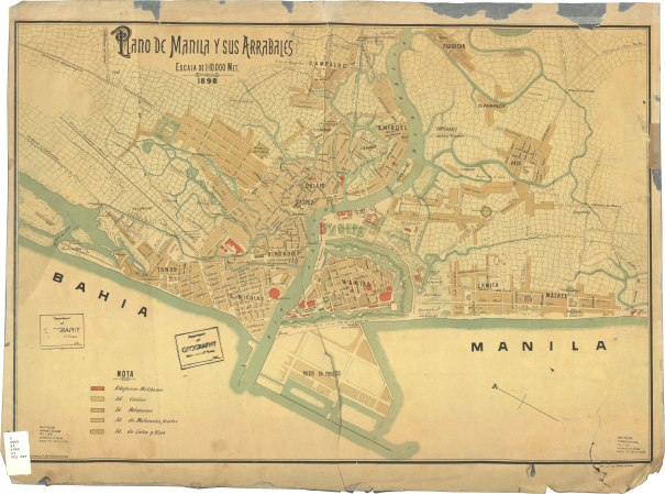 Plano de Manila 1898.