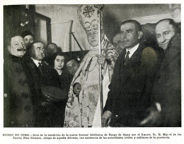 Acto de inauguración de la nueva central telefónica en la calle del Seminario nº 19 el día 9-2-1926