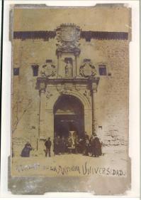 Antigua Universidad burgense. Primera sede de Telégrafos (Propiedad de Asterio Elvira)
