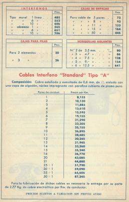 Anuncio 1954 Interfonos Standard Eléctrica página 2