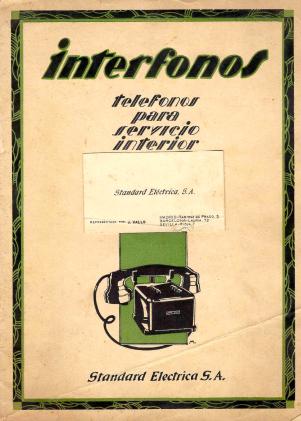 Interfonos 1930 1