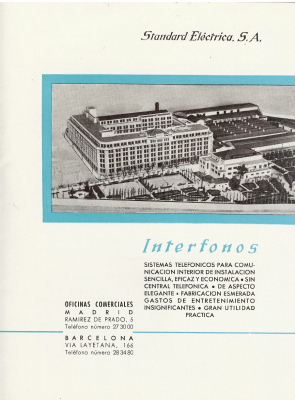 Primera página Interfonos SESA 1959, Cortesía Eduard Amorós