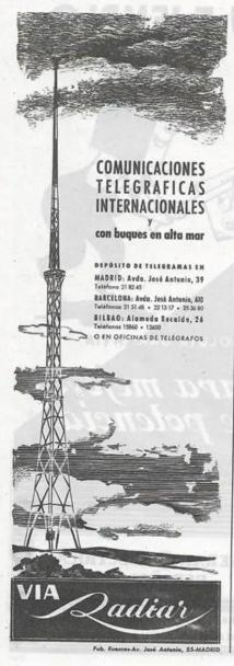 Radiar Anuncio Revista 1952